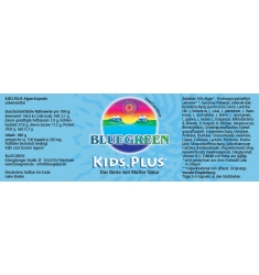 BLUEGREEN KIDS.PLUS Kapseln 180g, ca. 700 Stück im Violettglas