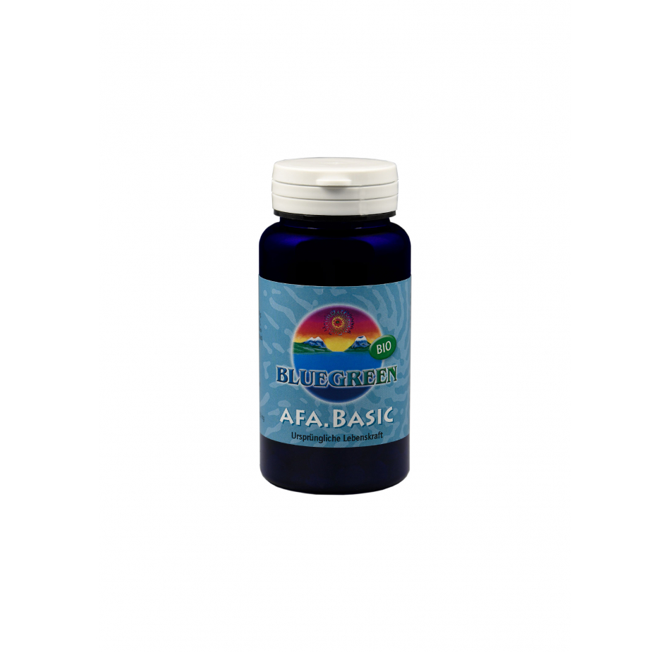 BLUEGREEN BIO AFA BASIC KAPSELN, 42g ca. 120 Kapseln  Vegan Glutenfrei AFA Algen Spirulina