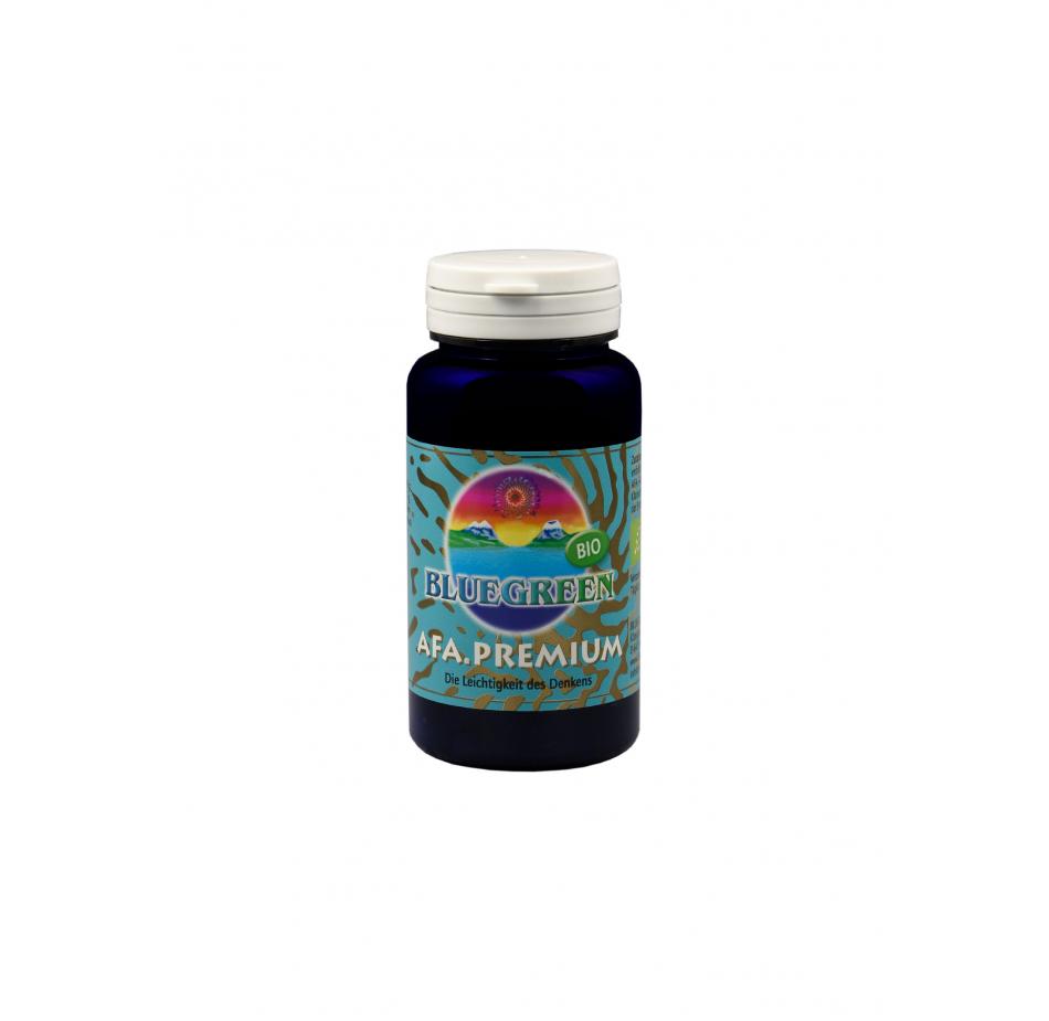 BLUEGREEN AFA Premium BIO Presslinge 30g, ca. 120 Stück á 250mg,  Vegan Glutenfrei AFA Algen Spirulina