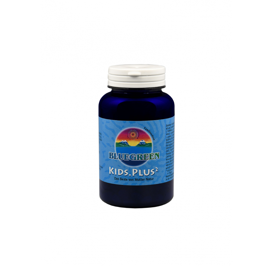BLUEGREEN KIDS.PLUS² Presslinge 90g, ca. 360 Stück, Familienpackung  Vegan Glutenfrei AFA Algen Spirulina