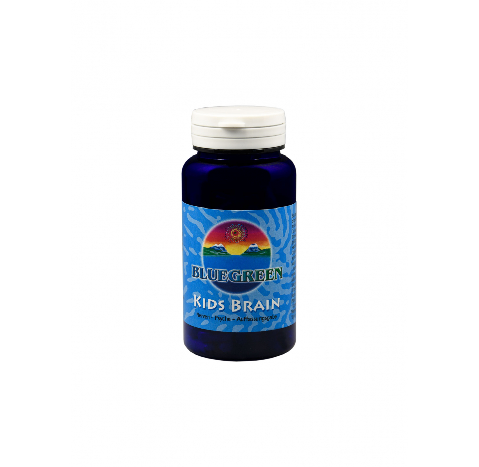 BLUEGREEN KIDS BRAIN KAPSEL 42g, ca. 120 Kapseln  Vegan Glutenfrei AFA Algen Spirulina