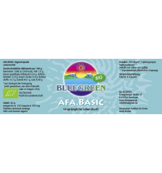 BLUEGREEN BIO AFA BASIC KAPSELN, 42g ca. 120 Kapseln