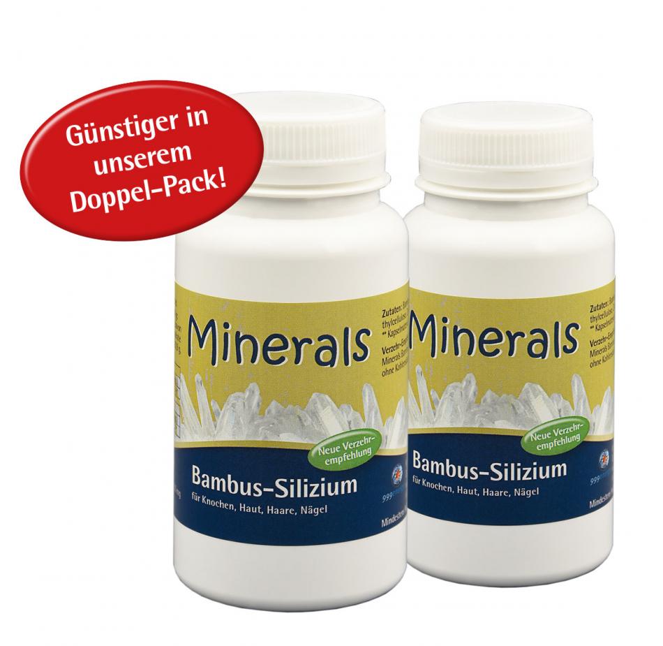 "Minerals Bambus-Silizium, 2 x 39 g, ca. 180 Kapseln a 433 mg im ""Doppelpack"""