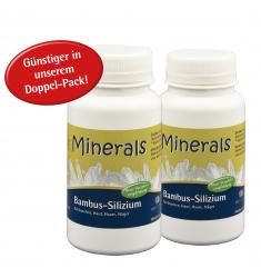 "Minerals Bambus-Silizium 95%, 2 x 39 g, ca. 180 Kapseln a 433 mg im ""Doppelpack"""