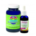BLUEGREEN delight Haarkur bestehend aus Bluegreen Haartonikum 50ml und  Bluegreen Greenlight Plus  96g