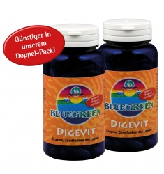"BLUEGREEN DIGEVIT (Nahrungsenzyme) mit Brokkolikeimlingen! 2 x 50g ca. 200 Stück Kapseln im ""Doppelpack"""