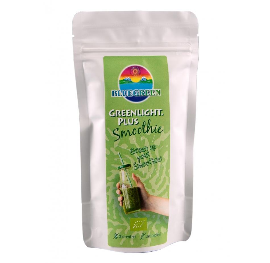 BLUEGREEN GREENLIGHT.PLUS BIO Smoothie 90 g Inhalt bis zum 31.1.2019 zum Einführungspreis  Vegan Glutenfrei AFA Algen Spirulina