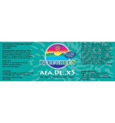 "BLUEGREEN AFA.DE..X5, AFA-Bärlauch-Chlorella ""Pyrenoidosa""-Koriander-Spirulina 30g, ca. 60 Kapseln"